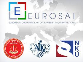 Logo of EUROSAI, Turkish Court of Accounts, Supreme Audit Office of Poland and Czech Supreme Audit Office