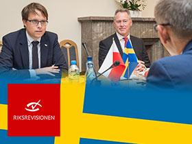 Representatives of the Swedish National Audit Office in NIK