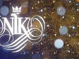Logo of NIK on Christmas background