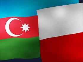 Flags of Azerbaijan and Poland