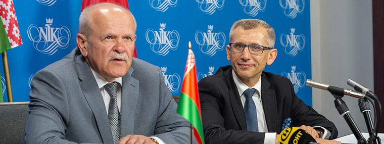Chairman of the State Control Committee of Belarus, Leonid Anfimov and President of the Supreme Audit Office of Poland, Krzysztof Kwiatkowski
