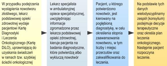 Skrócony schemat ścieżki onkologicznej (opis w linku poniżej)