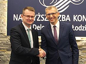 Auditor General of Lithuania, Arūnas Dulkys and Krzysztof Kwiatkowski, President of the Supreme Audit Office of Poland