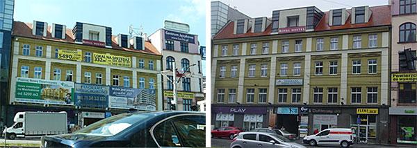 Wrocław, ul. K. Wielkiego, porównanie ulicy przed i po ustanowieniu parku kulturowego
