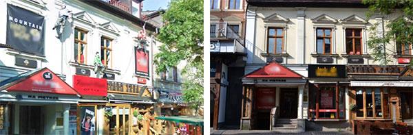 Zakopane, ulica Krupówki przed i po ustanowieniu parku kulturowego