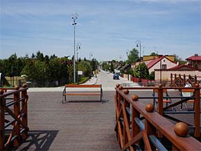 Sieradz, ul. Zamkowa po ustanowieniu parku kulturowego.