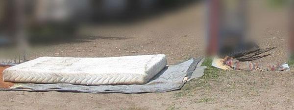 Maty dezynfekcyjne przed jednym z gospodarstw, fot. materiały kontrolne NIK