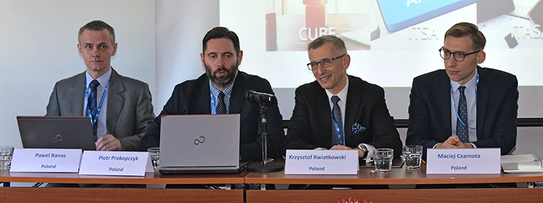 NIK delegation at the EUROSAI Working Group on IT Systems in Tallinn (from left: NIK's CEO Paul Banaś, Director of the Department of Science, Education and National Heritage Piotr Prokopczyk, NIK President Krzysztof Kwiatkowski, specialist in the International Affairs Department Maciej Czarnota)