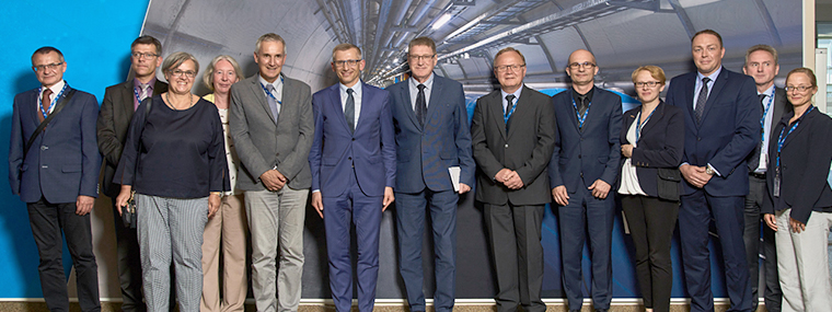 Auditors and the leadership of NIK with representatives of CERN