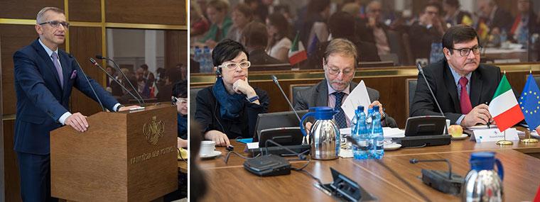 Prezes NIK Krzysztof Kwiatkowski otwiera spotkanie Grupy Roboczej ds. VAT Komitetu Kontaktowego