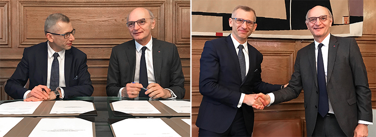 President of the Supreme Audit Office of Poland, Krzysztof Kwiatkowski and Premier President of Cour des comptes, Didier Migaud