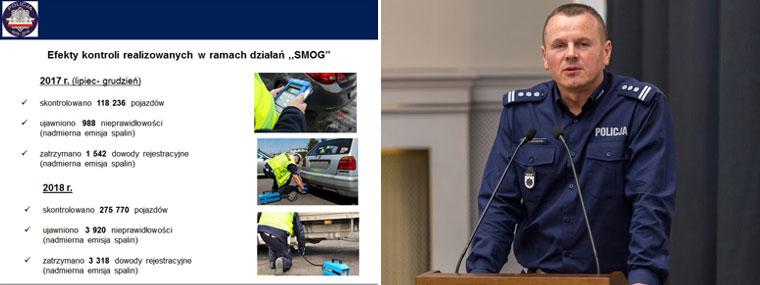 Inspektor Leszek Jankowski z Komendy Głównej Policji