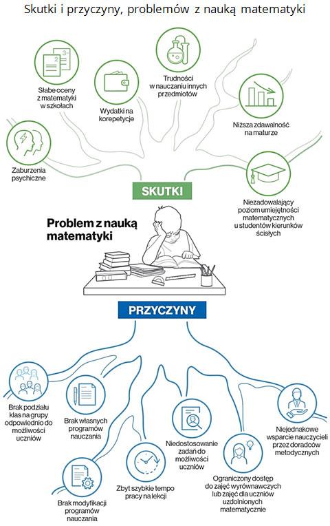 Skutki i przyczyny, problemów z nauką matematyki