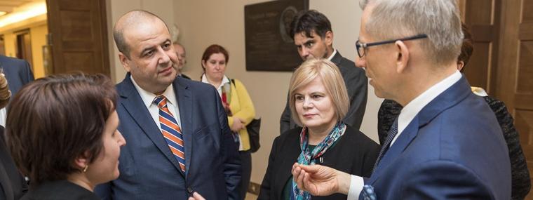 Prezes NOK Rumunii Mihai Busuioc i jego delegacja w siedzibie NIK w Warszawie