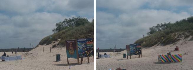 Wydmy na plaży zachodniej w Ustce