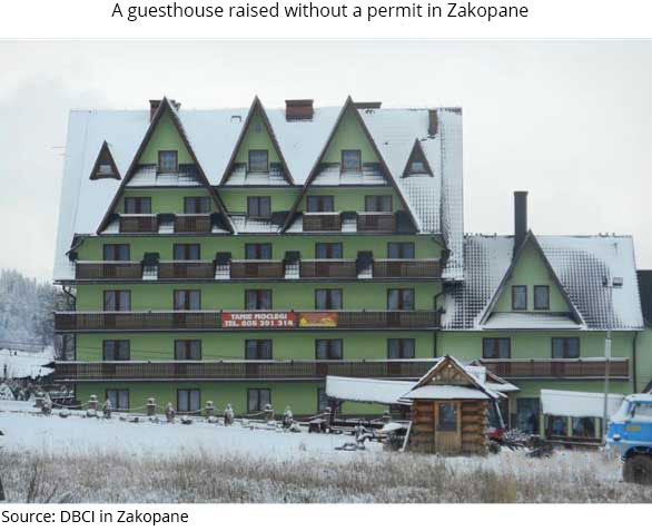 A guesthouse raised without a permit in Zakopane