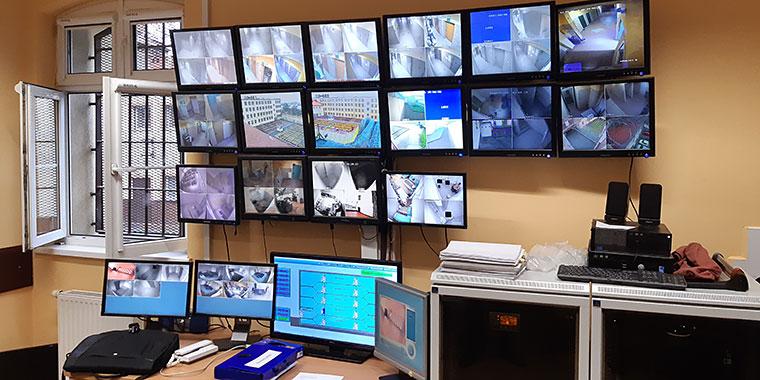 Stanowisko monitorowe w Areszcie Śledczym w Wejherowie