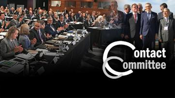 Contact Committee of the EU SAIs logo and photos form The annual meeting of the Contact Committee