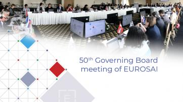 EUROSAI Governing Board meeting photo of proceedings and logo